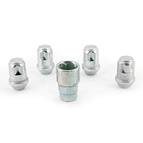 H&R 125001KEY4 Set M12x1.50 Kegelbund-4 Felgenschloss-Muttern inkl. Adapter