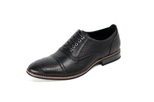 Pour Hommes Smart Officiel À Lacets Décontracté Faux Cuir Chaussures Brogues Noir