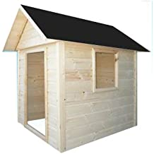 Cadema - Casita de madera de jardín para niños, 1,7x 1,7m