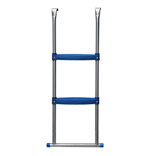 Helo Trampolin Leiter mit 96 cm Höhe für Ø 365 cm Gartentrampoline, Einstiegsleiter zum Einhängen, extra breite Kunststoff Stufen (7 cm Trittbreite), UV- und witterungsbeständig