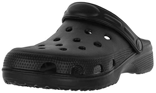 REIS Schwarze Herren Clogs Pantoletten - Herrenschuhe Gartenschuhe Strandschuhe Sandale, Größe: 41