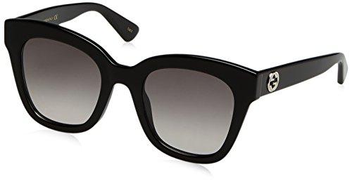 Gucci Damen GG0029S 001 Sonnenbrille, Schwarz (Black/Grey), 50
