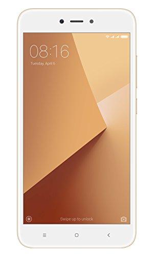 """Xiaomi Redmi Note 5A - Smartphone Libre DE 5.5"""" (4G, WiFi, Bluetooth, Snapdragon 425 1.4 GHz, 16 GB de ROM Ampliable, 2 GB de RAM, Cámara DE 13 MP, Android MIUI, Dual-SIM), Oro, [Versión Española]"""
