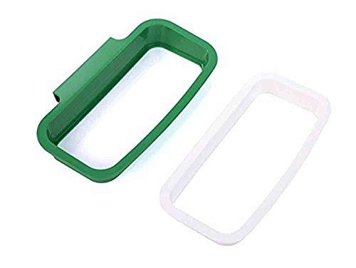 ter Küchenschrank Küchenabfallsackhalter aus Kunststoff Lagerung Kleiderstange Hängend Papierkorb Taschen 12,5 x 22 cm (Grün) ()