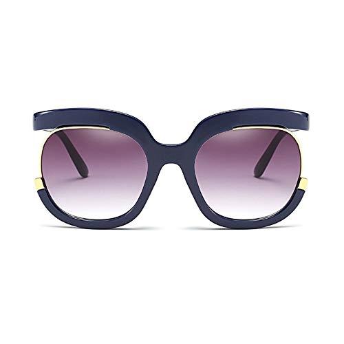 MoHHoM Sonnenbrille Sonnenbrille Frauen Übergroße Große Hälfte Rahmen Uv400 Vintage Sonnenbrille Retro Brillen Für Die Weibliche Blue