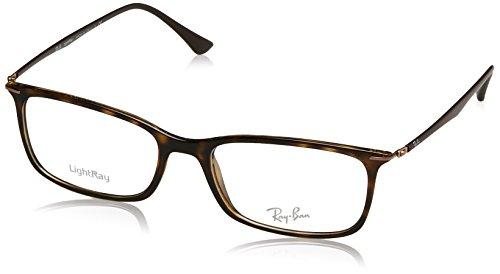 Rayban Herren Brillengestell RX7031, Braun (Havana), 55