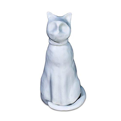 Urne für Tiere in Porzellan von Capodimonte A Form von Katze/Capodimonte Porcelain cat-shaped Urn
