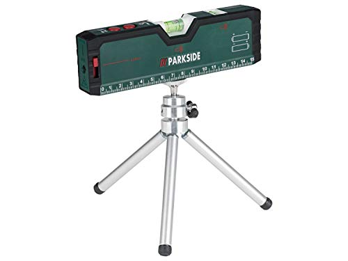 POWERFIX Laser Wasserwaage mit Stativ, Kreuzlinien und Pointerfunktion