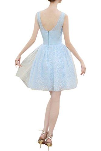 Victory Bridal 2016 Neu elegant Promkleider Abendkleider Partykleider V-ausschnitt A-Linie Rock Mini spitze Applikationen Hellgruen