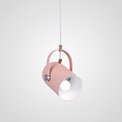 Zylinder Pendelleuchten Moonlight Painted Finish Aluminium Mini Style Nette Creative 110-120V / 220-240V Glühbirne Nicht Enthalten / E26 / E27@220-240V_Rosa -
