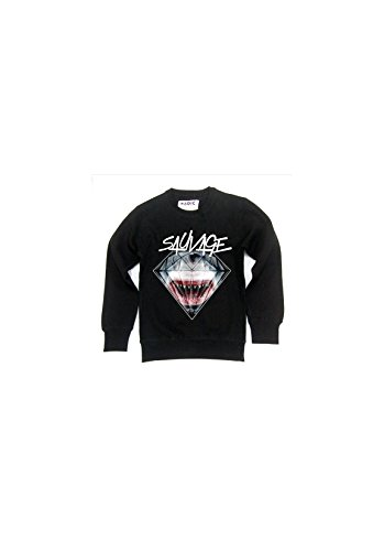 Sauvage - Sweat col rond shark Noir