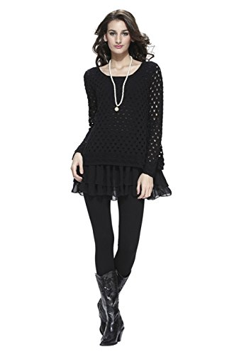 2luv-womens-eyelet-top-with-tiered-lining-black-s-123