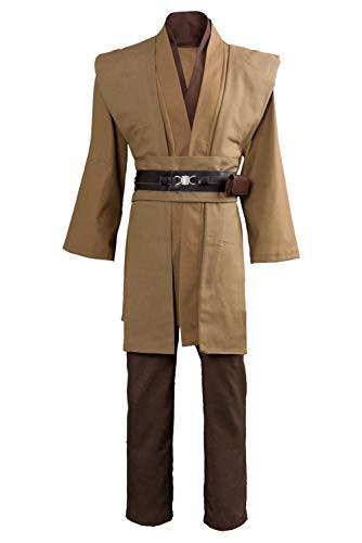 Einfach Kostüm Obi Wan - Tianxinshop Halloween Cosplay Jedi Knight Samurai Kostüm, Coffee