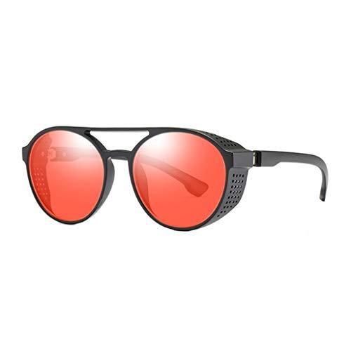 Sonnenbrille Unisex Brillenträger DamenKatzenauge Sonnenbrille Integrierte Streifen-Vintage-Brille Klassische Mode UV-Schutz Brille Ideal zum Autofahren Städtetouren