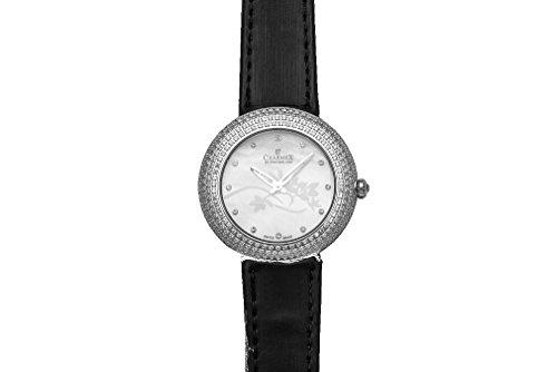 Charmex Las Vegas Femme 35mm Noir Cuir Bracelet Montre 6306