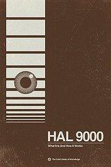 Hal 9000–2001: una odisea del espacio Póster de la película edición limitada pigmento impresión Póster de la película Póster de la película Brandon Schaefer firmada por Original Póster de la película
