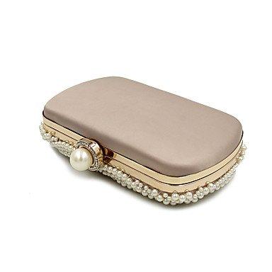 Woman Fashion Luxus Hochwertige Imitation Pearl Abend Tasche apricot