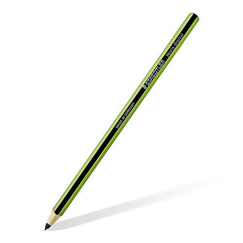Staedtler Stylus Noris digital, 180 22-5 Sechskantform, EMR-Technologie, attraktives Noris Streifen-Design grün-schwarz, ergonomische Soft-Oberfläche, feine 0.7 mm Spitze (Stylus-grün)