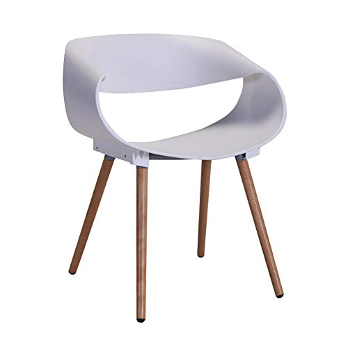 chenyang86 Chaise - une variété de couleurs simple en bois massif en plastique dossier accoudoir dinant la chaise de loisirs (Couleur : Blanc, taille : 46 * 47 * 75cm)