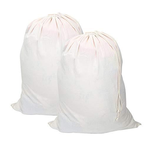 Viviving - Bolsas lavandería algodón Natural extragrandes
