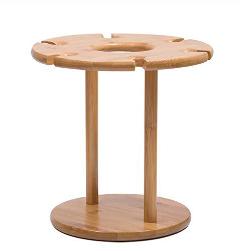 Hängende Pool-tisch (Maxpex Weinglashalter aus Holz, Natur, Massivholz, europäisches Weinglas, Abtropfgestell und Flasche, auf der Oberseite, kreatives Weinregal, Haushalt B braun)
