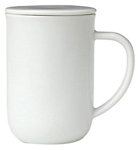 Viva Scandinavia Minima équilibre Tasse à thé (0.5L), Porcelaine, Blanc, 13.2 x 9 x 14.2 cm