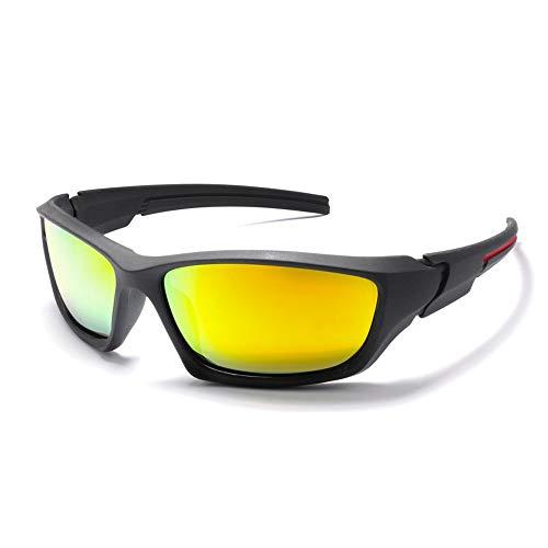 WULE-Sunglasses Unisex Herren Outdoor Reitbrille Windschutzscheiben Sonnenbrille Sport Herren Polarisierte Sonnenbrille (Color : Orange, Size : Kostenlos) -