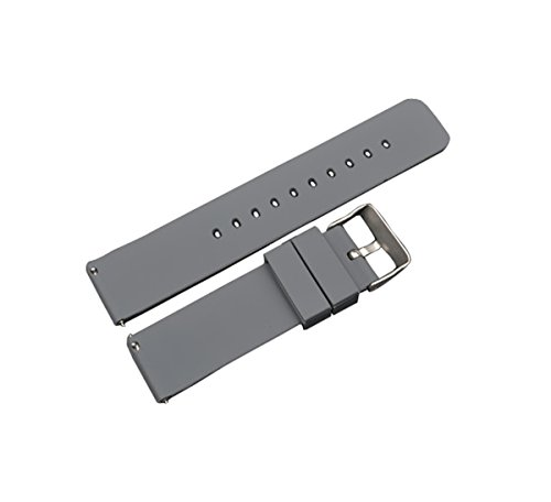 dunkelgrau Silikon Uhrgurt 22mm Verdickung und leichte Uhrenarmband Edelstahl Uhr Schnalle