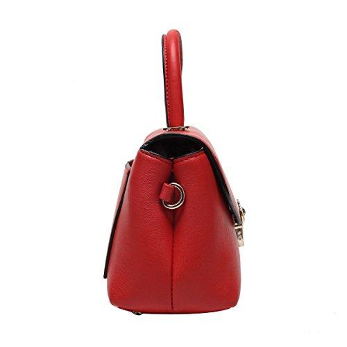 Moda Femminile Versione Coreana Della Borsa Trasversale Obliqua Tessuta Con Un Piccolo Sacchetto Quadrato Red