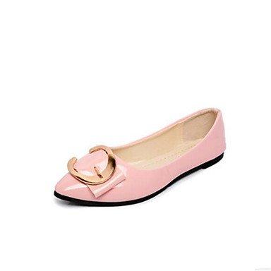 Rtry Mujeres Comfort Heels Pu Primavera Verano Informal Comfort Blushing Pink Blanco Negro Plano Us10.5 / Eu42 / Uk8.5 / Cn43
