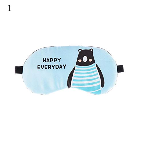 lili Schlafmaske Augenklappe Augenabdeckung Baumwolle Kreative Schöne Cartoon für Augen Reise Entspannen Schlafmittel Augenklappe Shading Augenmaske, 1 2 stücke