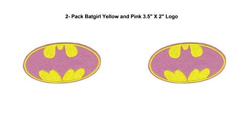 /Athena/Batgirl 8,9cm (2er Pack) bestickt Nähen Patches Applikation ()