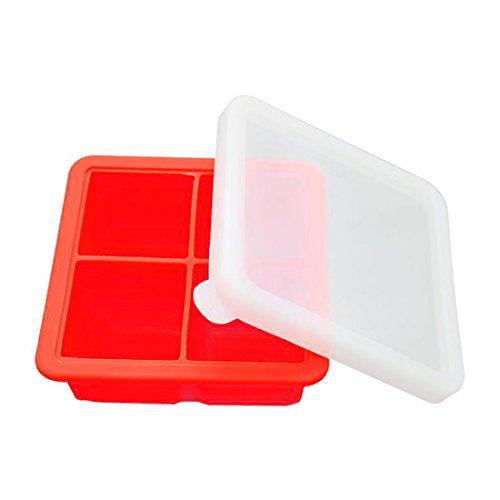 Askcut Jumbo - Molde hacer cubitos hielo tapa, silicona