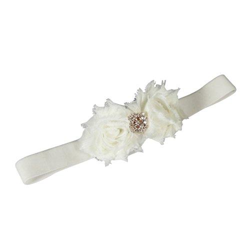 Ivy Lane Design Strumpfband Gisele, Samt, elastisch, elfenbeinfarben/silberfarben Medium Ivory/Rose Gold