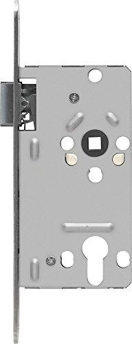 ABUS 21038 Tür-Einsteckschloss Profilzylinder TKZ20, für DIN-links Türen, silber