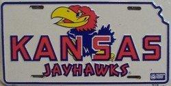 LP - 907 Kansas Jayhawks License Plate - 461 by Smart Blonde