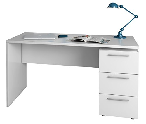 White Colour Modern and Minimalist Large Spacious Compartments Sturdy Structure Floating Work Station with Shelving COMIFORT Wall-Mounted Desk