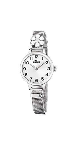 Lotus - Reloj para Niña Acero Flor Blanca Cierre de Hebilla 18661/1