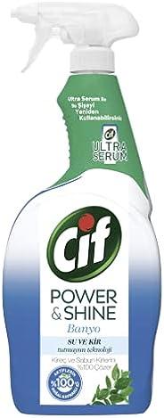 Cif Power & Shine Sprey Temizleyici Banyo Kireç ve Sabun Kirlerini %100 Çözer 750 ML 1