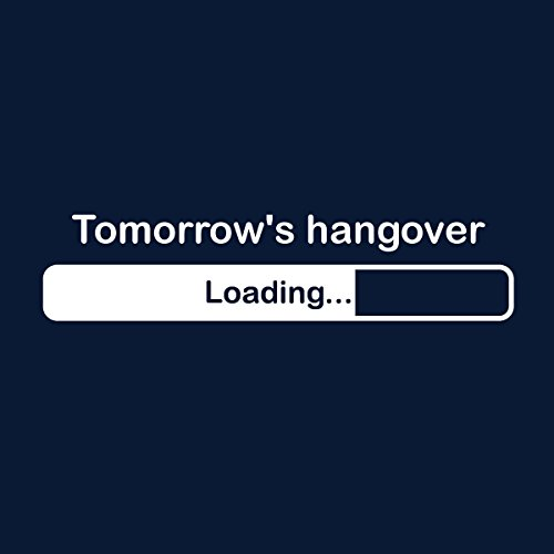 Tomorrows Hangover Loading Men's Vest Navy Blue
