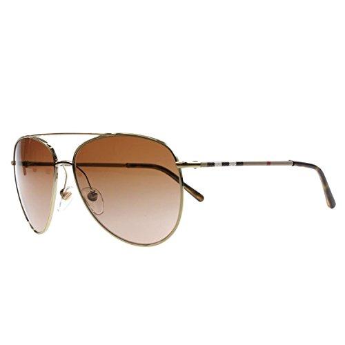 Von Für Sonnenbrille Burberry Herren (BURBERRY Unisex Sonnenbrille BE3072, Mehrfarbig (Gestell Gold, Gläser: Braun-Verlauf 114513), Large (Herstellergröße: 57))