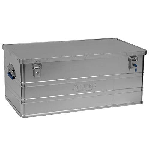 ALUTEC MÜNCHEN 2011142 Aluminiumbox Classic mit Zylinderschloss 900 x 490 x 380 mm, Silber