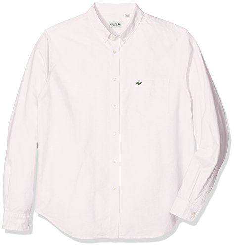 Lacoste Ch2286, Chemise Casual Homme Rose (Nymphe/Blanc)