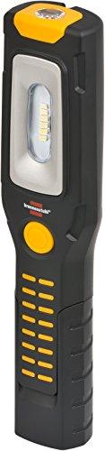 Brennenstuhl LED Taschenlampe mit Akku / Akku Multifunktionsleuchte mit 6 superhellen SMD-LED´s (3 Stunden Leuchtdauer, 360° drehbarer Haken, knickbarer Haltefuß, 2 starke Magnete) Farbe: schwarz/gelb