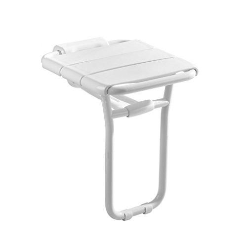 Klappbare Stahlrohr-stühle (Bad Klappsitz Alte Menschen Dusche Wand Stuhl Duschhocker Schuhbank Bemalte Stahlrohr Rost und Kompression Wirtschaftliche Ersparnis 36 * 41 * 48cm)