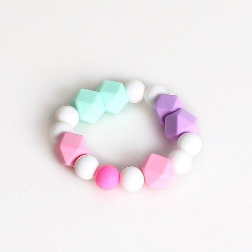 Wwin Baby Beißring Ring Armband BPA frei Grade Silikon Geschenk für Mama dehnbar Säugling Chew Perlen Kinderkrankheiten Spielzeug