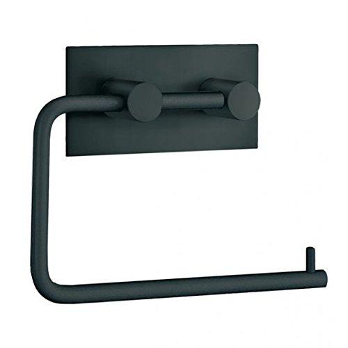 Beslagsboden Toilettenpapierhalter Design aus gebürsteter Edelstahl, Schwarz