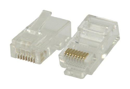 Valueline VLCP89304T RJ45 Stecker für UTP CAT6 Kabel mit festen Innenleitern (Kabel Cat6 Festes)