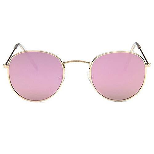 VIWIV Retro runde Sonnenbrille-Frauen-Designer-Marken-Sonnen-Führer-Spiegel-Glas-Legierungs-Sonnenbrille für Frauen,1