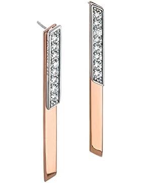 Fiorelli Damen-Ohrringe 925 Sterling-Silber Silber Rundschliff Cubic Zirconia